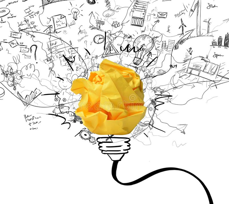 Idee en innovatieconcept royalty-vrije illustratie