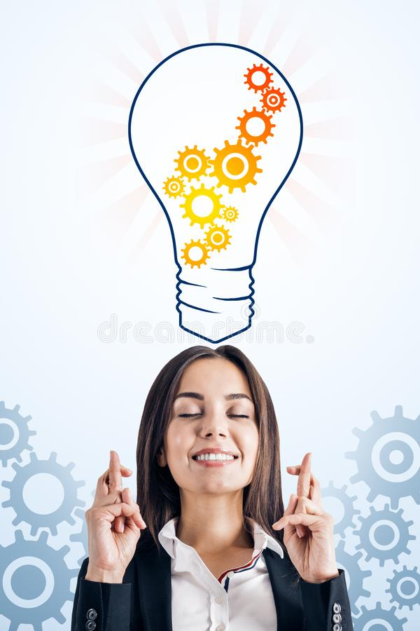 Idee en innovatieconcept royalty-vrije stock afbeeldingen