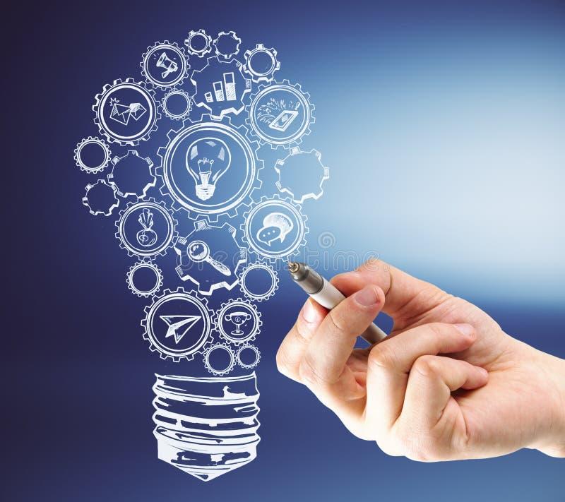 Idee en workshopconcept stock illustratie