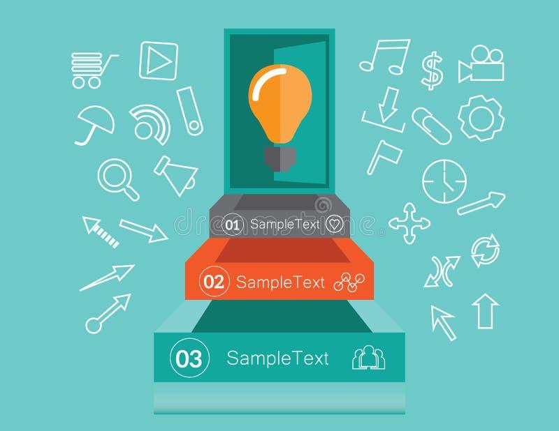 Idee infographics Konzept lizenzfreie abbildung