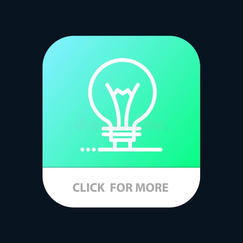 Idee, Innovatie, Uitvinding, de Knoop van de gloeilampenmobiele toepassing Android en IOS Lijnversie stock illustratie