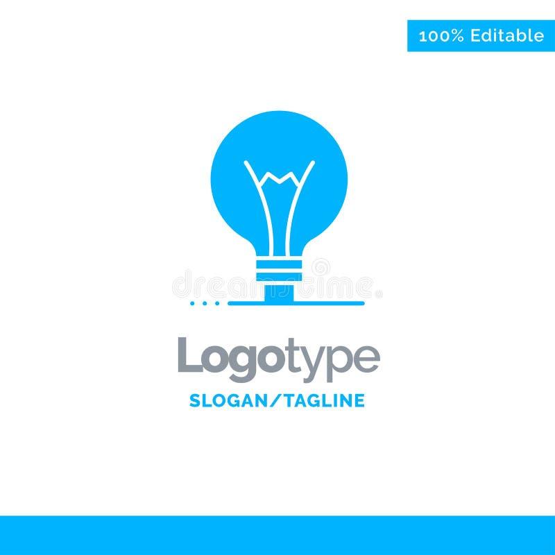 Idee, Innovatie, Uitvinding, gloeilamp Blauw Stevig Logo Template Plaats voor Tagline royalty-vrije illustratie