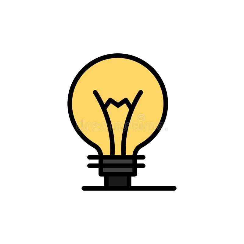 Idee, Innovatie, Uitvinding, Pictogram van de gloeilampen het Vlakke Kleur Het vectormalplaatje van de pictogrambanner royalty-vrije illustratie