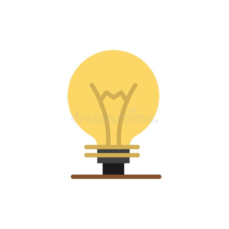 Idee, Innovatie, Uitvinding, Pictogram van de gloeilampen het Vlakke Kleur Het vectormalplaatje van de pictogrambanner stock illustratie