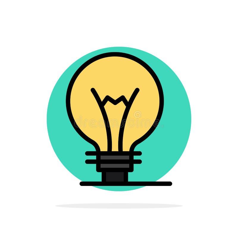 Idee, Innovatie, Uitvinding, van de Achtergrond gloeilampen Abstract Cirkel Vlak kleurenpictogram vector illustratie