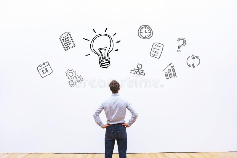 Idee oder Innovationskonzept lizenzfreie stockbilder