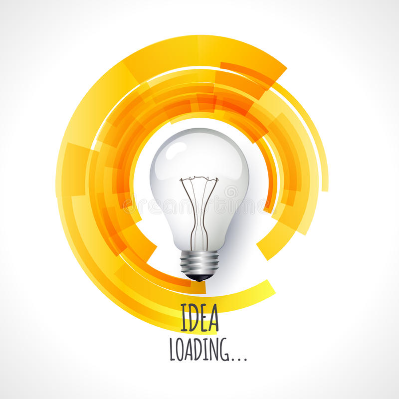 Idee Ontwerp van vooruitgangsbar, het laden creativiteit royalty-vrije illustratie