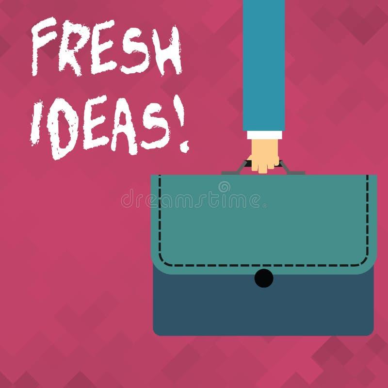 Idee originali del testo di scrittura di parola Concetto di affari per pensiero o suggerimento quanto ad una linea possibile dell royalty illustrazione gratis
