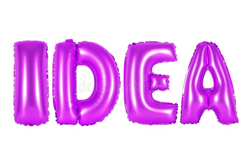 Idee, purpurrote Farbe stockfoto