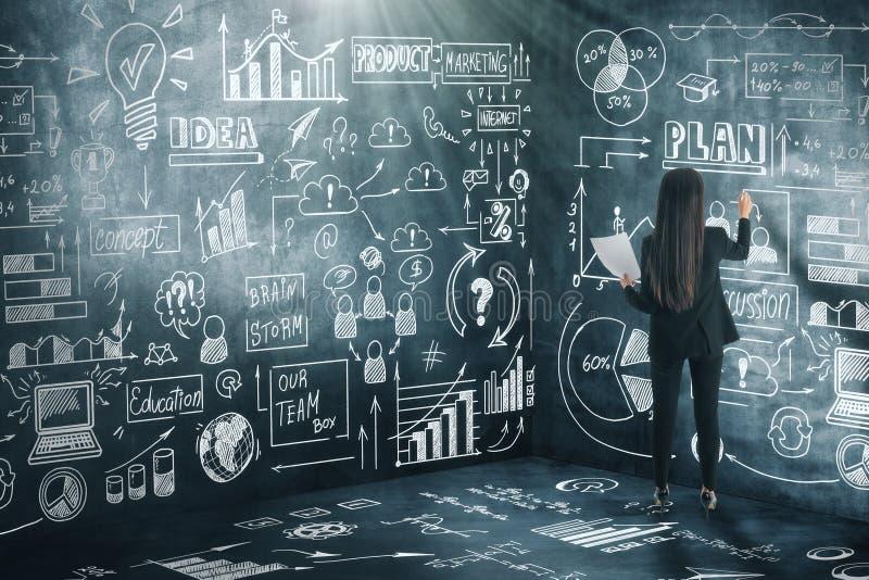 Idee und Erfolgskonzept stock abbildung
