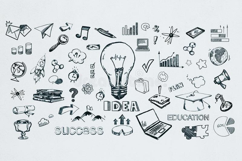 Idee und Erfolgskonzept lizenzfreie abbildung