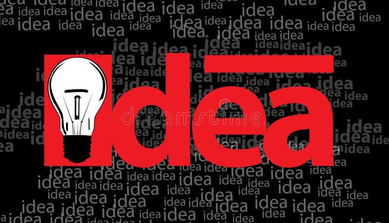 Idee und Fühlerabbildung lizenzfreie abbildung