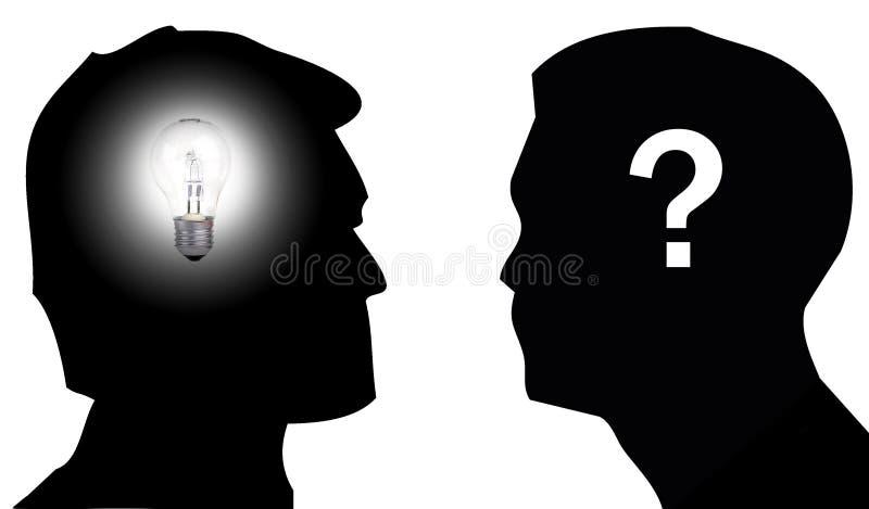 Idee und Zweifel stockfotos