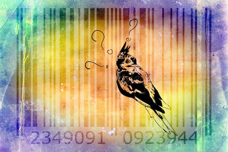 Idee van de het ontwerpkunst van de papegaaistreepjescode het dierlijke stock illustratie