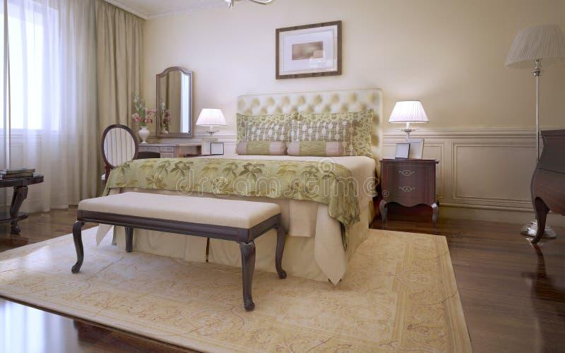 Idee van hoofd Engelse slaapkamer royalty-vrije illustratie