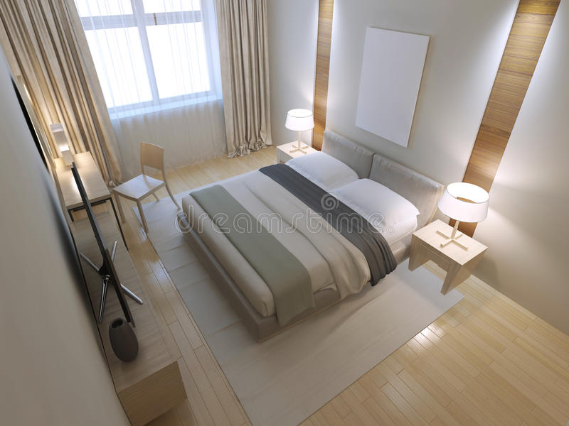 Kleine Minimalistische Slaapkamer : Idee van minimalistische slaapkamer stock illustratie illustratie