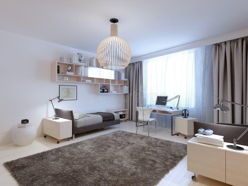 Idee van tieners eigentijdse slaapkamer stock foto afbeelding 59223358 - Foto van volwassen slaapkamer ...