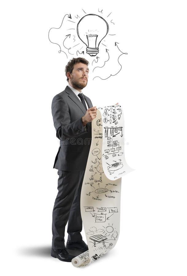 Idee voor een nieuwe strategie stock afbeelding