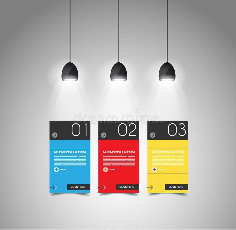 Idee, Zeitachse mit Pfeil anzuzeigen Ideal, zum von Informationen anzuzeigen stock abbildung