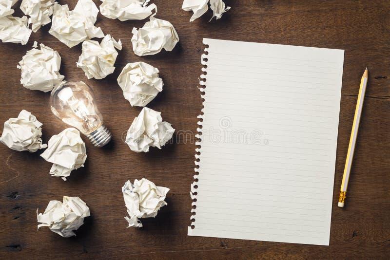 Idee zu schreiben zu beginnen lizenzfreies stockbild