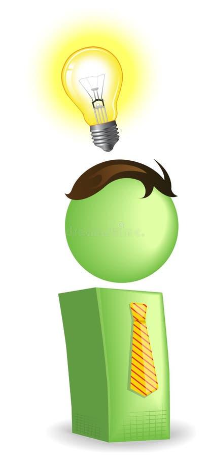 Ideebol stock illustratie