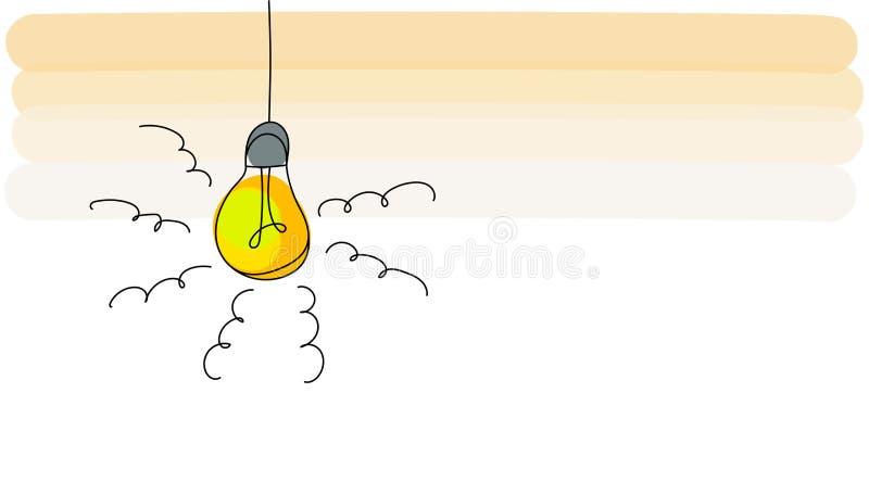 Ideeconcept met het ontwerp van het gloeilampenpictogram, vectorillustratie royalty-vrije illustratie