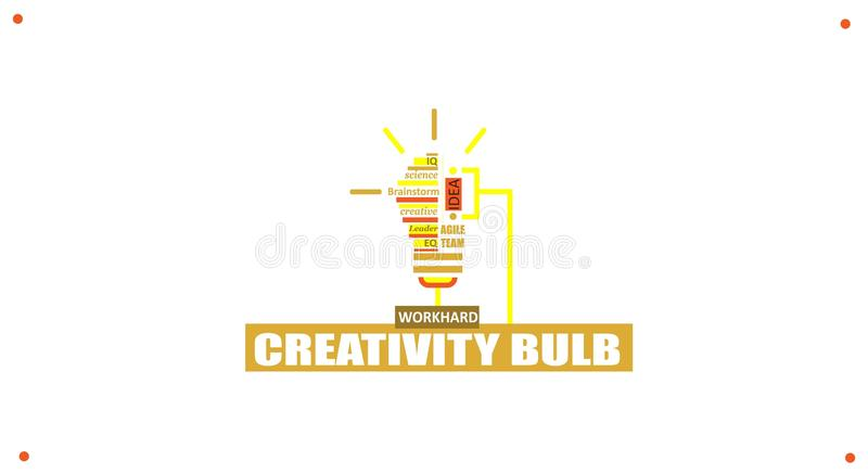 Ideeconcept voor bedrijfsanalyse en uitwisselings van ideeëngroepswerk, creatieve innovatie, het raadplegen, financieel verslag stock illustratie