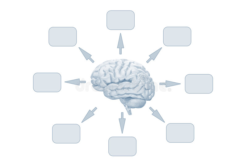 Ideen eines Gehirns lizenzfreie abbildung