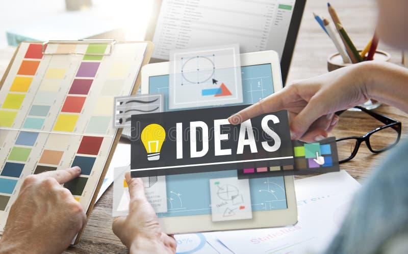 Ideen-Innovations-Kreativitäts-Plan-Gedanken-Konzept vektor abbildung