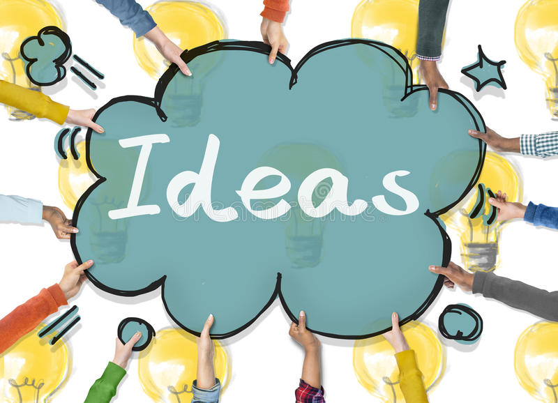 Ideen-Innovations-Taktik-Gedanken-Plan-Konzept vektor abbildung