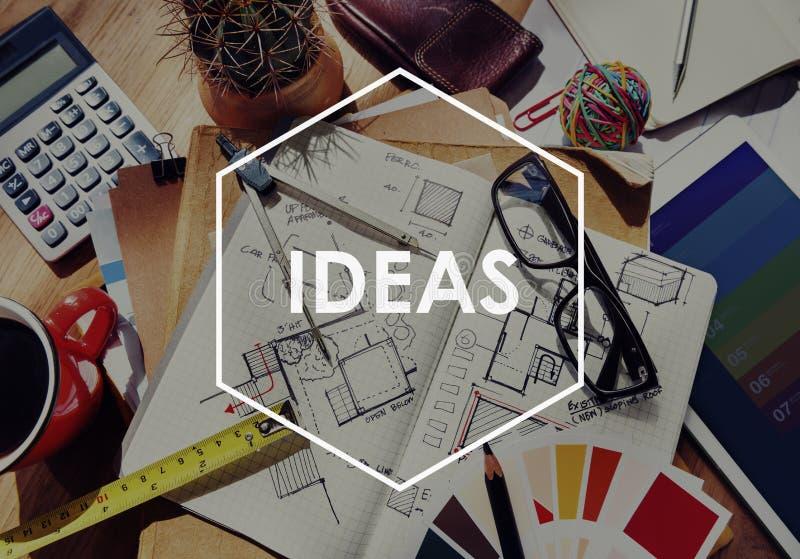 Ideen-Inspirations-Motivations-Kreativitäts-Konzept des Entwurfes lizenzfreies stockbild