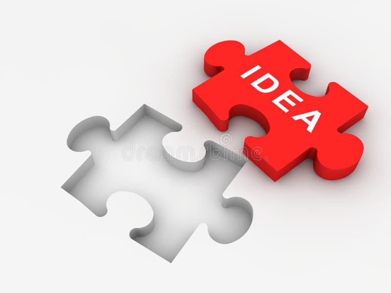 Ideen-Konzept stock abbildung