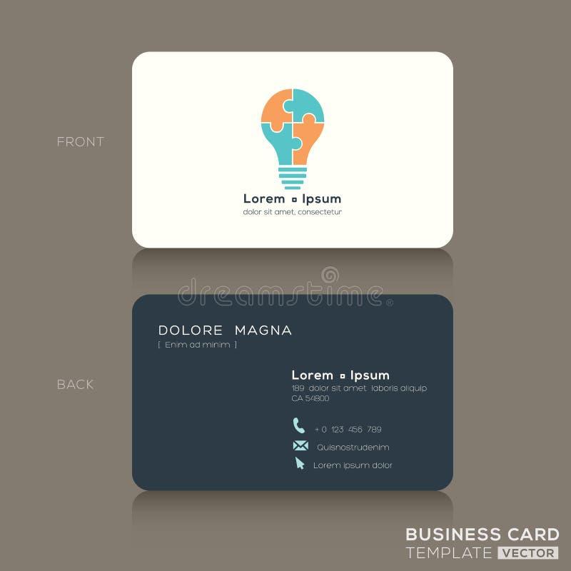 Visitenkarten Mit Puzzlespieldesign Vektor Abbildung
