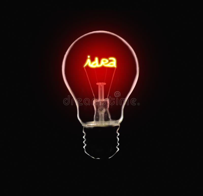 Ideen-Lampe stockbild