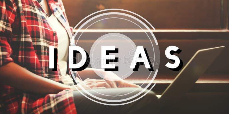 Ideen-Plan-Design-Visions-Strategie-Gedanken-Konzept stockfoto