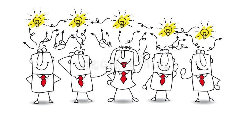 Ideenaustausch lizenzfreie abbildung