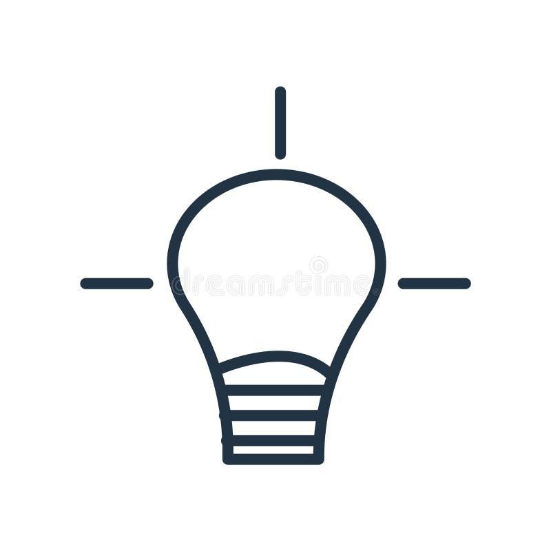 Ideenikonenvektor lokalisiert auf weißem Hintergrund, Ideenzeichen vektor abbildung