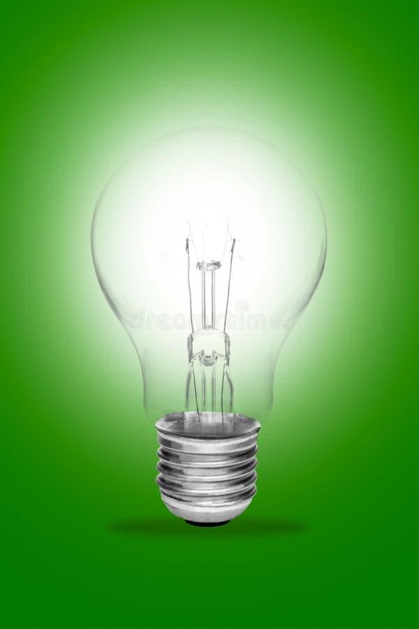 Ideenkonzept Whit eine glühende Glühlampe lizenzfreies stockfoto