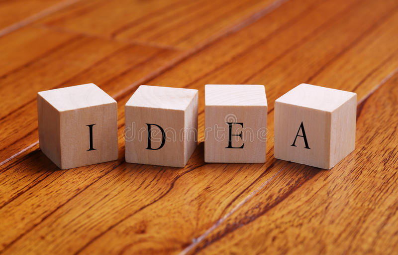 Ideenwortkonzept lizenzfreies stockbild