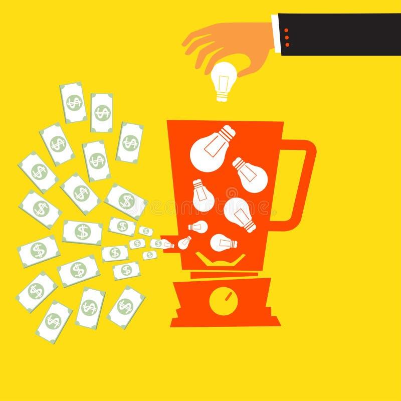 Ideesucces stock illustratie