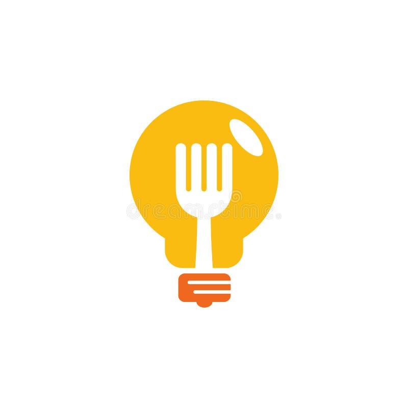 Ideevoedsel Logo Icon Design royalty-vrije illustratie