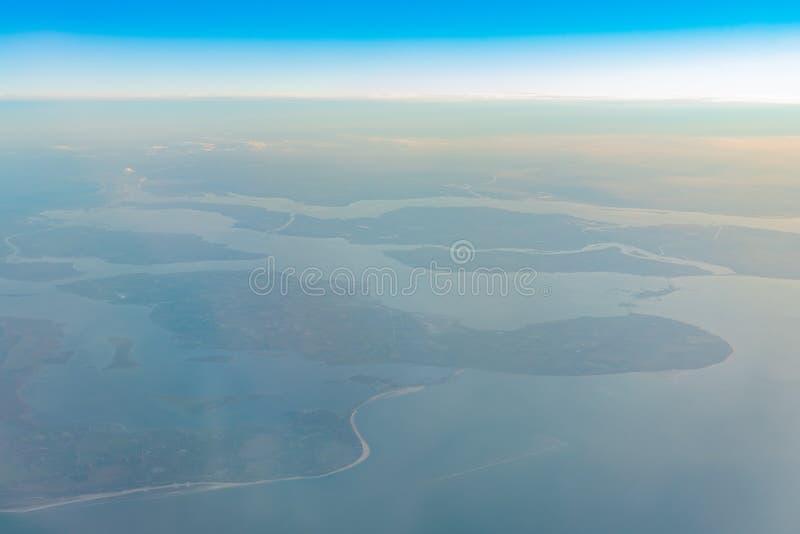 Ideia aérea da área bonita de Haamstede do Burgh fotos de stock