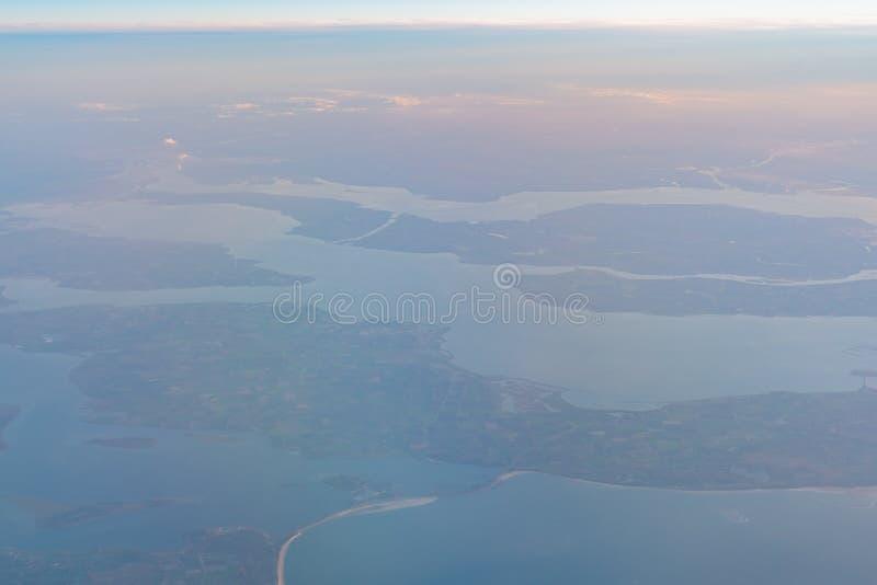 Ideia aérea da área bonita de Haamstede do Burgh fotografia de stock royalty free