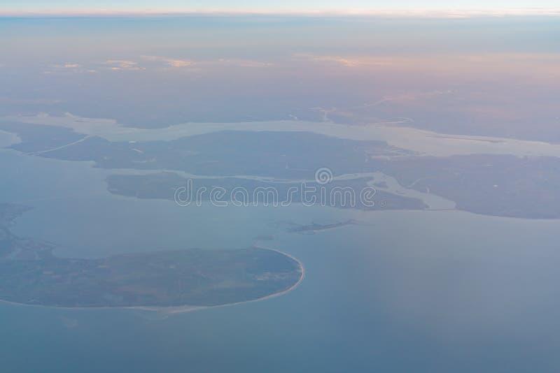 Ideia aérea da área bonita de Haamstede do Burgh fotografia de stock