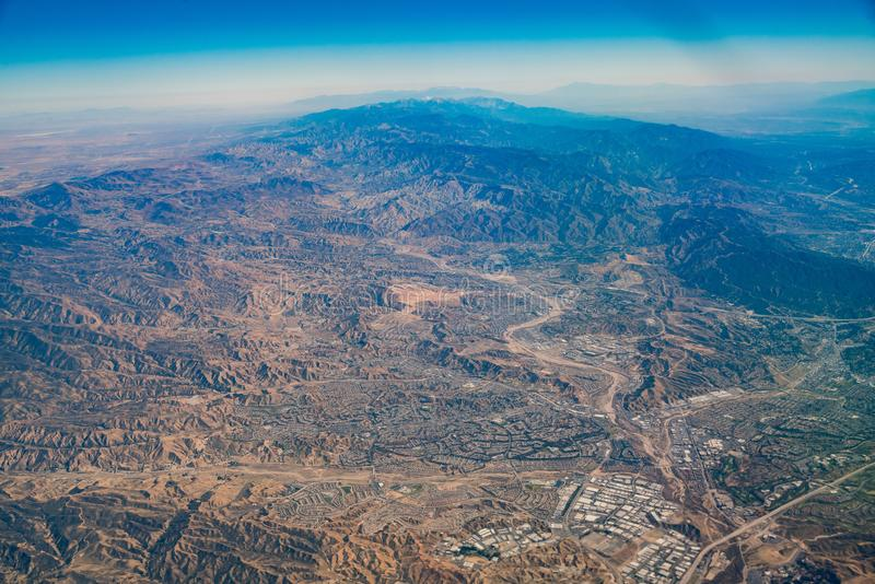 Ideia aérea da área de Santa Clarita fotos de stock royalty free