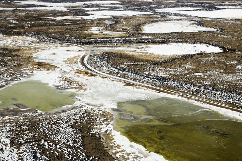 Ideia aérea da paisagem do país imagem de stock royalty free