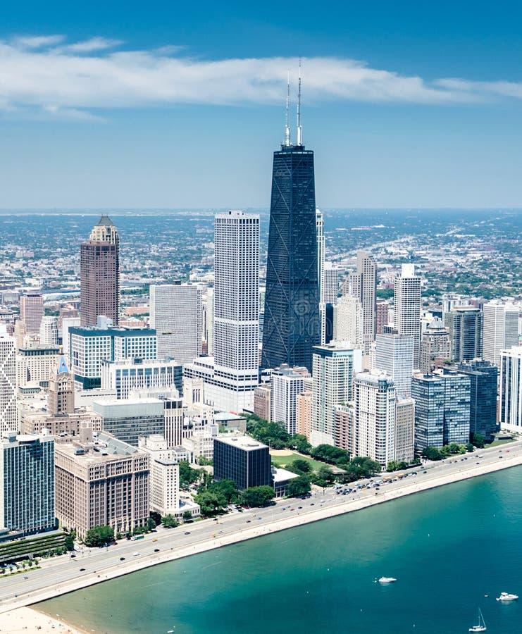 Ideia aérea da skyline de Chicago imagem de stock