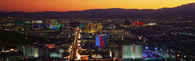 Ideia aérea da tira de Las Vegas fotos de stock royalty free