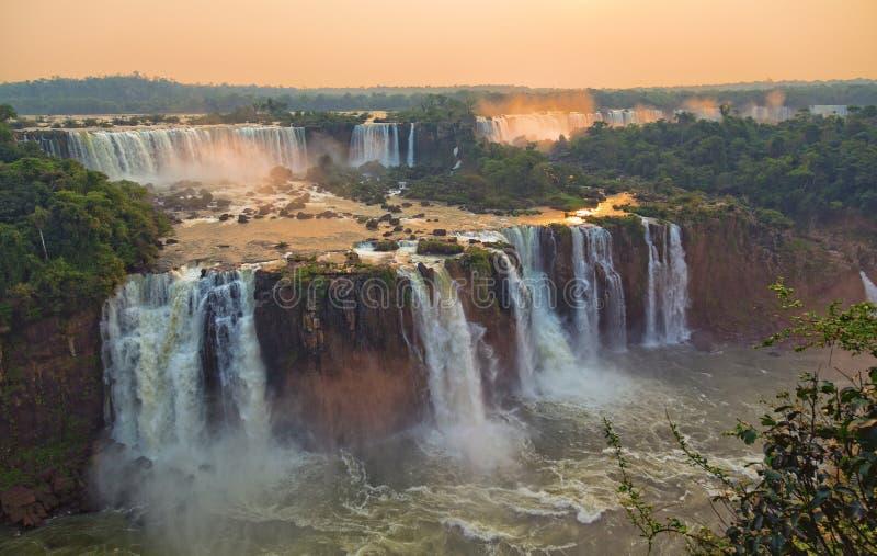 Ideia aérea de quedas de Iguacu imagem de stock royalty free