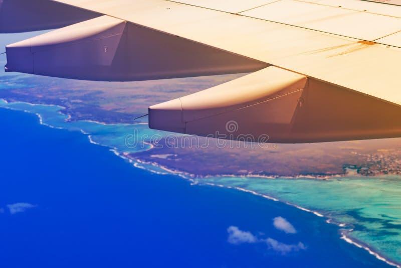 Ideia aérea de um litoral mauritius imagens de stock royalty free
